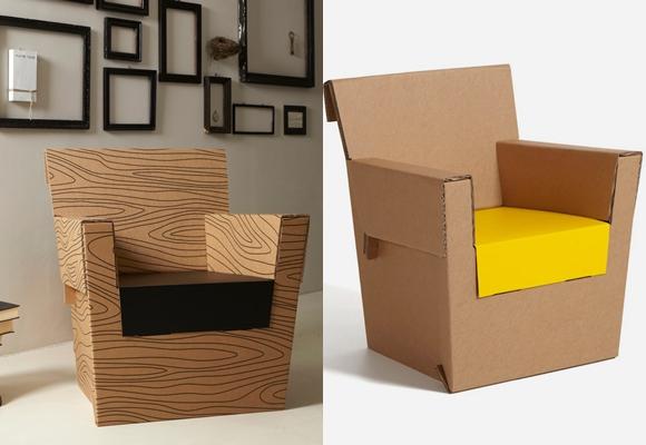 Marzua muebles de cart n originales ecol gicos y muy - Muebles originales reciclados ...