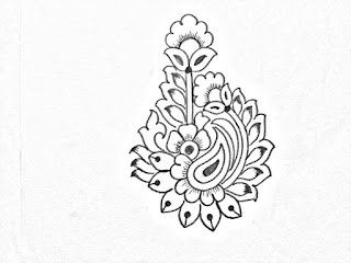 Buti khaka drawings for hand embroidery and machine embroidery designs
