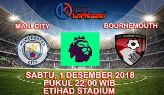 Prediksi Bola Manchester City vs Bournemouth 1 Desember 2018