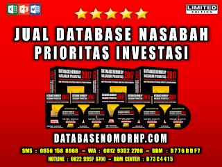 Jual Database Nasabah Prioritas Investasi