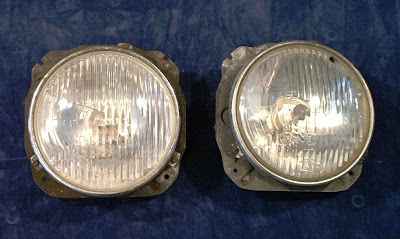 "Image of 2 of 5 ¾"" headlights on a blue background"