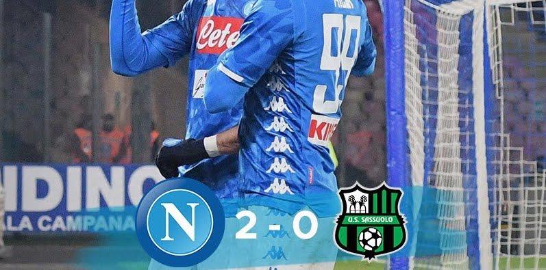 Coppa Italia, Milik e Fabian Ruiz lanciano il Napoli ai quarti: 2-0 al Sassuolo, e adesso il Milan.