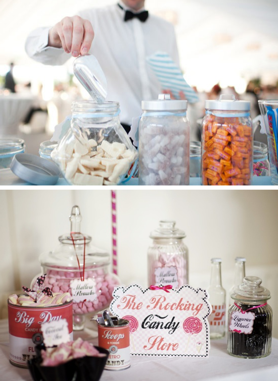 candy bar, candy dessert table