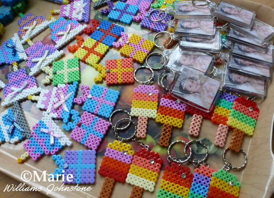 Turning Completed Fused Hama Perler Bead Designs into Birthday Party Favors