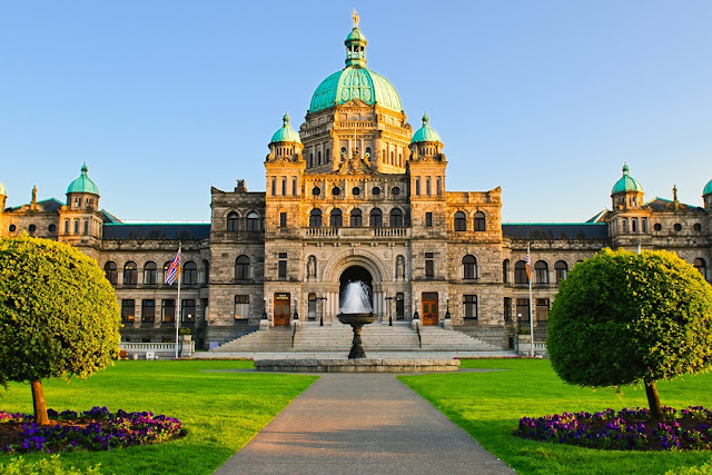 British Columbia Parliament Buildings em Victoria