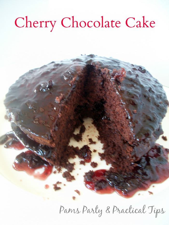 How to make cherry chocolate cake