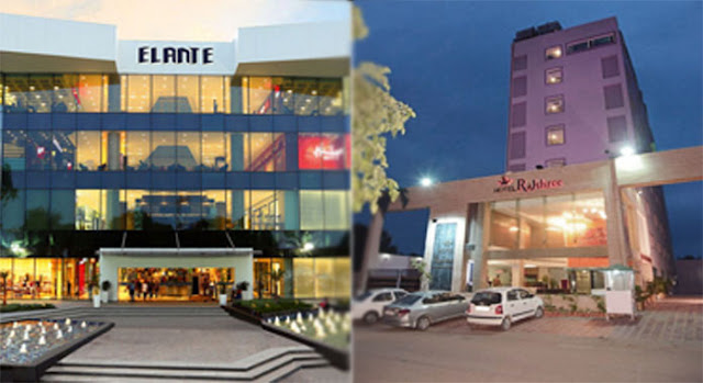 Hotels near Elante mall in Chandigarh