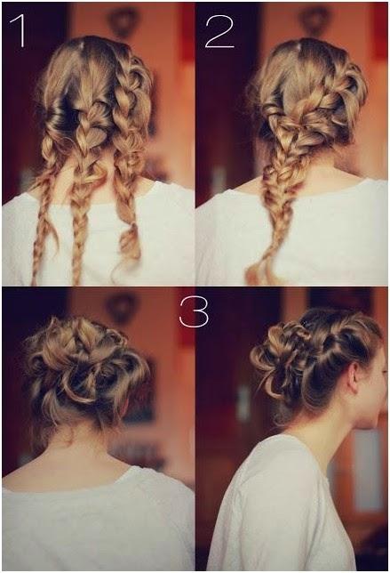Hairstyles And Women Attire 5 Trendy Messy Braid Bun Updos