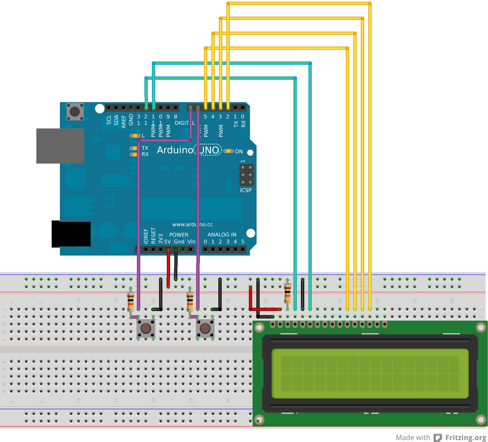 infotronikblog: Arduino: Reloj simple sin modulo RTC DS1307
