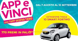 Logo Concorso APP Estate 2017: vinci 770 premi e 10 auto Smart FourTwo