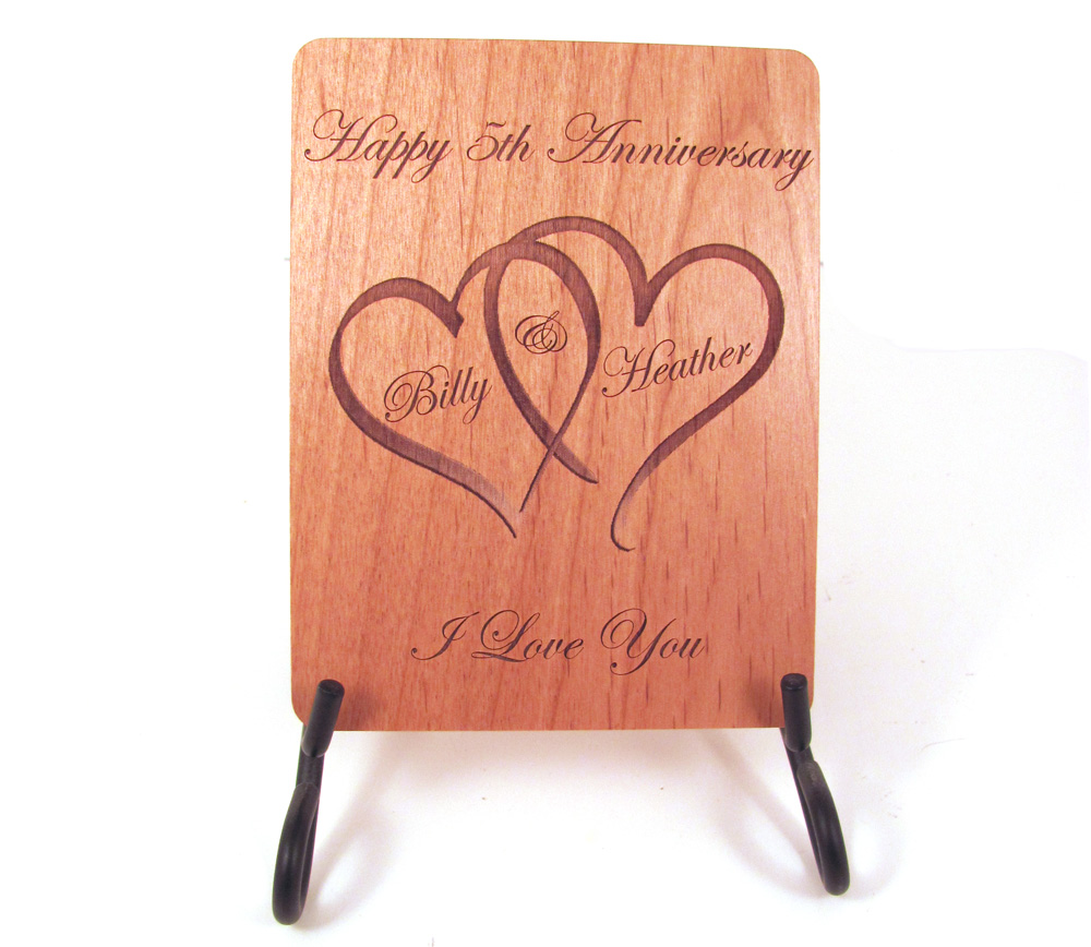 5th Wedding Anniversary Wooden Gift Ideas From Makemesomethingspecial Started With The Wood Card That I Made For Recent Order