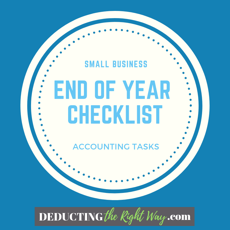 End of Year Accounting Checklist for Tax Time