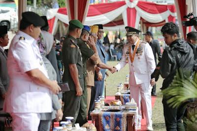 Pimpin Upacara HUT ke-55, Gubernur Lampung M Ridho: Lampung Makin Berdaya Saing