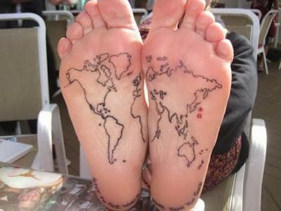 тату-карта на ногах