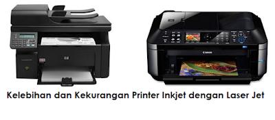 Kelebihan dan Kekurangan Printer Inkjet dengan Laser Jet