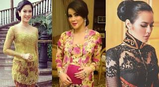 Foto Model Kebaya Kartini Terbaru Instagram Artis Indonesia Cantik dan Anggun