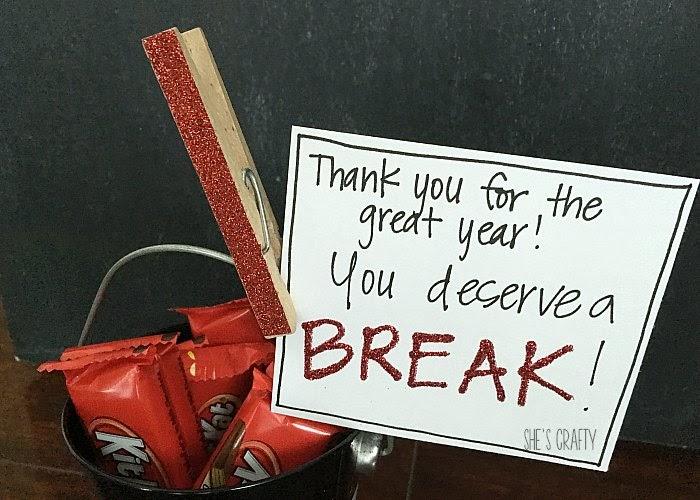 Kit Kat Bucket - teacher gift
