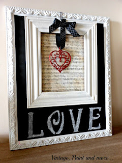 Vintage Paint and more... Valentine sign made with thrift store finds