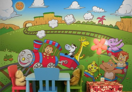 Children's decor with wall paintings 2