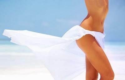 bosses après le rasage de la zone de bikini