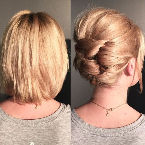 Looped Updo Short Hairstyle