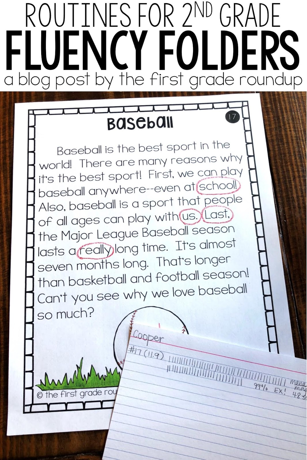 hight resolution of Fluency Folder Routines for Second Graders - Firstgraderoundup