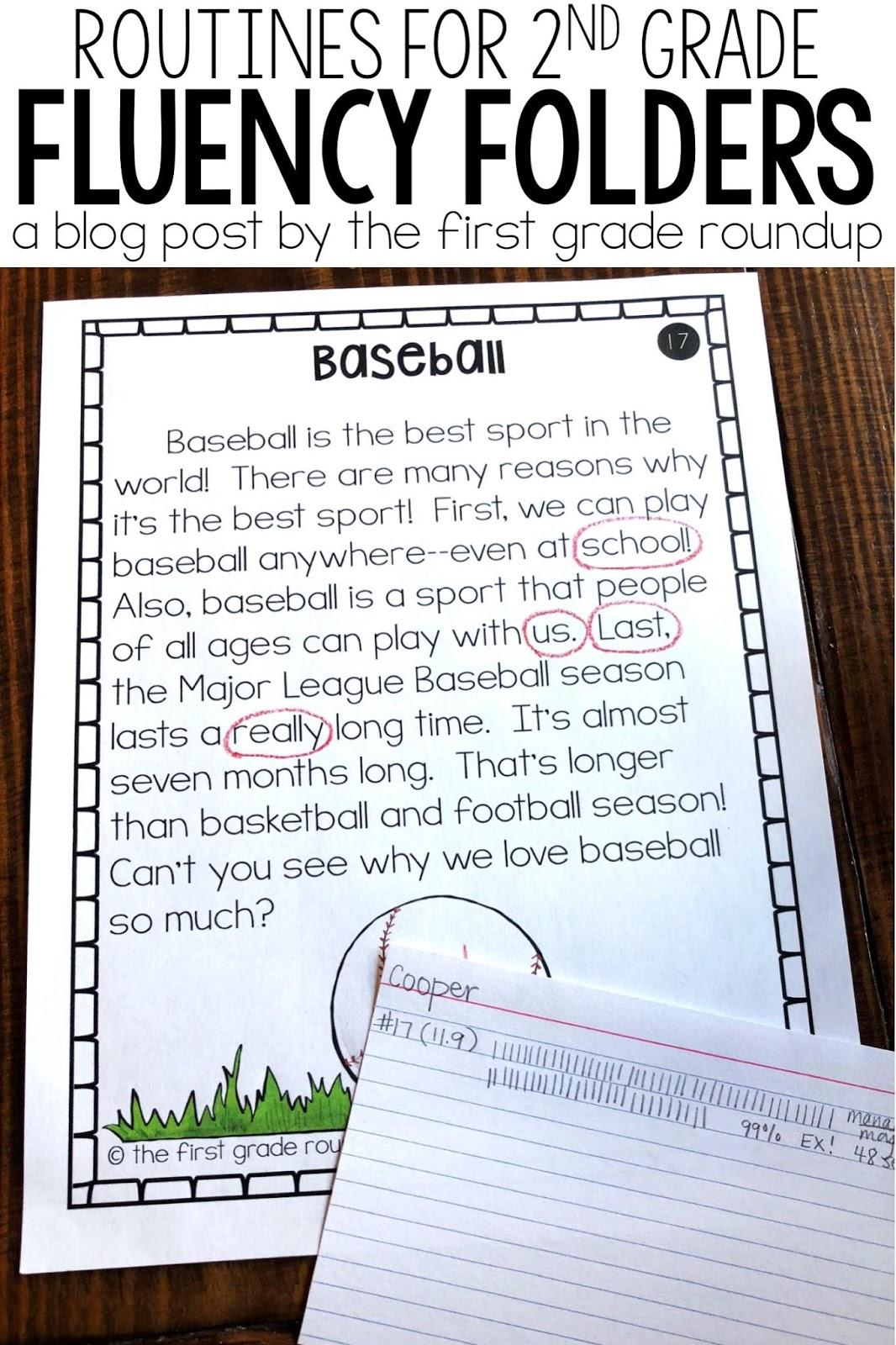 medium resolution of Fluency Folder Routines for Second Graders - Firstgraderoundup