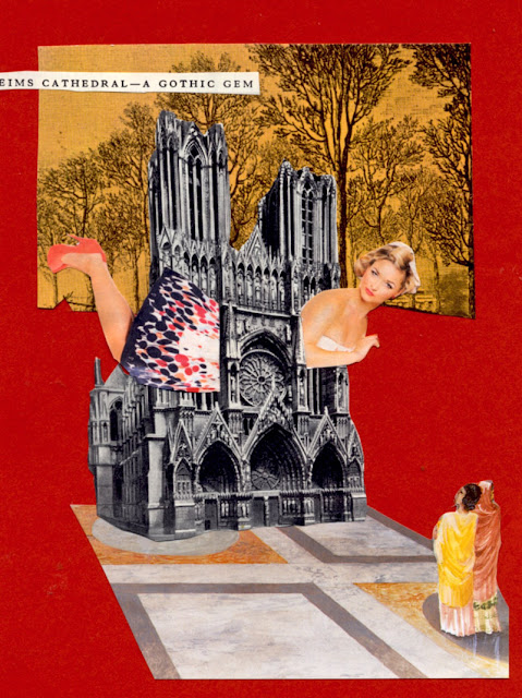 Paper cut collage by Claudia Mazzie-Ballheim