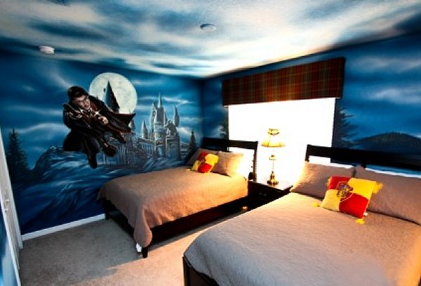 Decorating theme bedrooms maries manor harry potter for Themed bedroom wallpaper