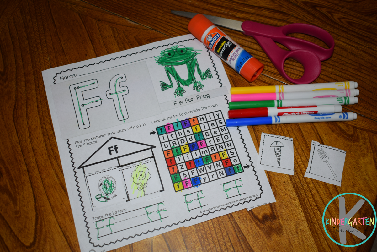 Kindergarten Worksheets And Games Letter F