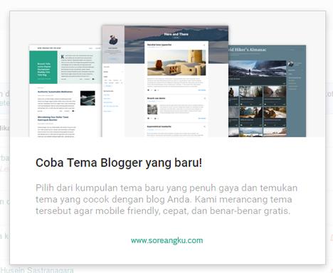 Tema Blog Baru untuk Pengguna Blogspot