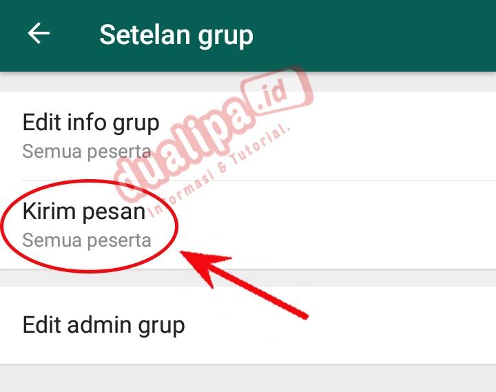 Grup WhatsApp Hanya Admin Yang Bisa Kirim Pesan