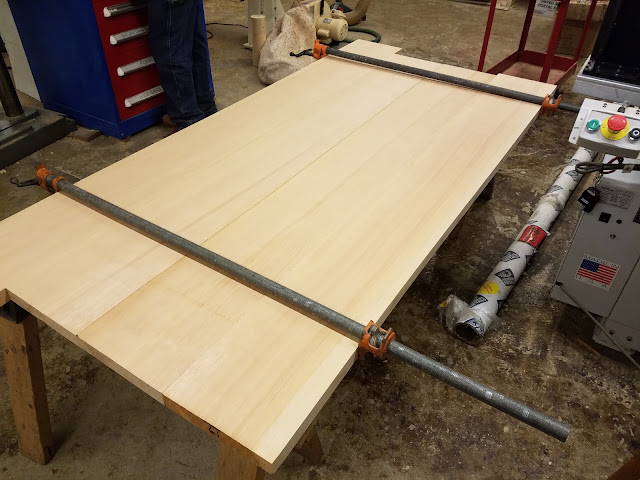 tabletop boards dry-clamped together