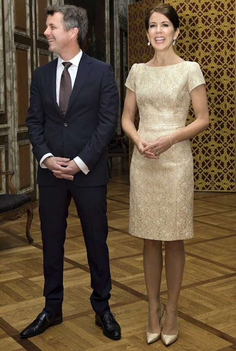 Crown Prince Frederik of Denmark and Crown Princess Mary of Denmark held a dinner at the Christiansborg Palace in Copenhagen