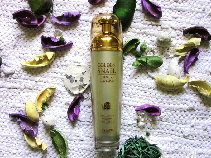 SKIN79- Golden Snail Intensive Emulsion, na ratunek przesuszonej twarzy.