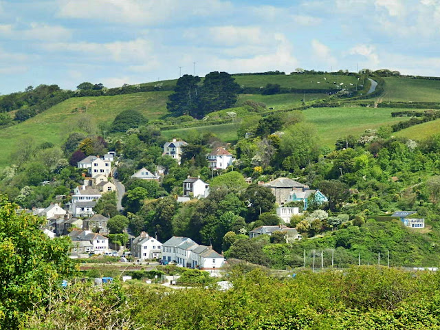View of Pentewan village and beyond, Cornwall