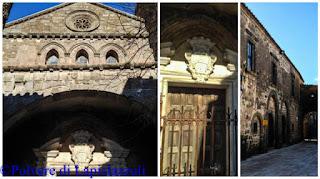 Particolare della facciata della Chiesa dell'Annunziata  e Palazzo Vescovile di casertavecchia