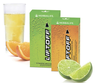 HERBALIFE LIFT OFF Energy Drink 10 Tablet Pack! (10 SATCHETS) Orange or Lemon