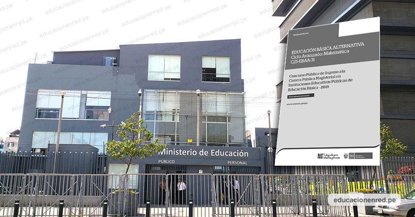 MINEDU publicará los Cuadernillos y Claves del Examen de Nombramiento Docente 2019 (Prueba Única Nacional) www.minedu.gob.pe