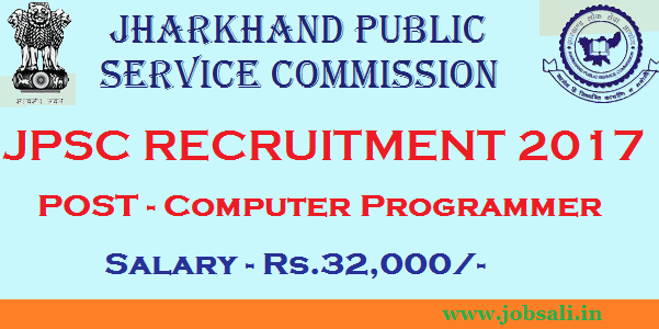 Jharkand PSC Notification 2017, Jharkhand Govt Jobs, JPSC Computer Programmer vacancy