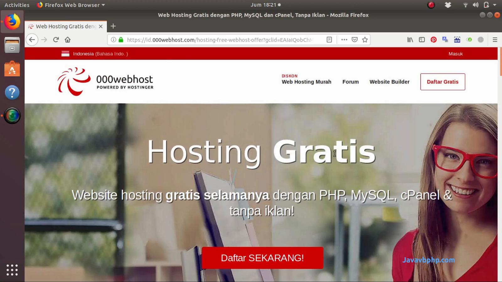 Domain Dan Hosting Gratis 000webhost.com