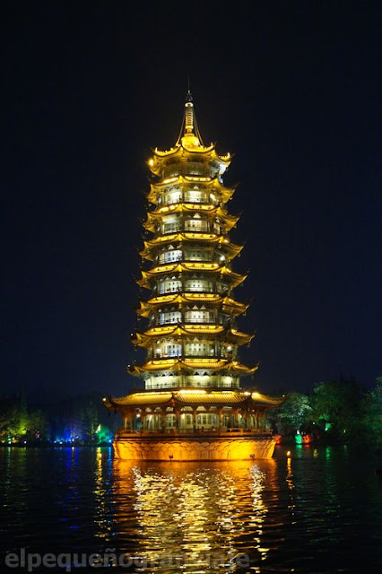 Pagoda del sol, Guilin, china