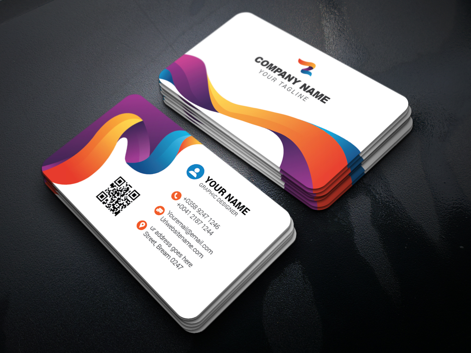 How to make a colorful business card in adobe illustrator ideosprocess how to make a colorful business card in adobe illustrator reheart Choice Image