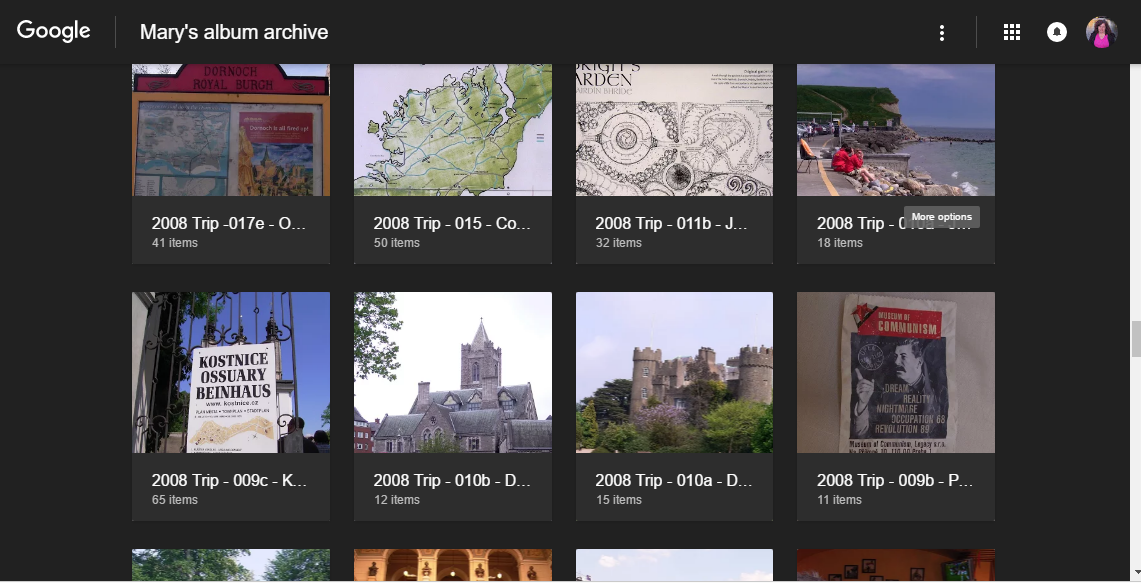 How to use Picasa-web-albums without being re-directed - August 2016