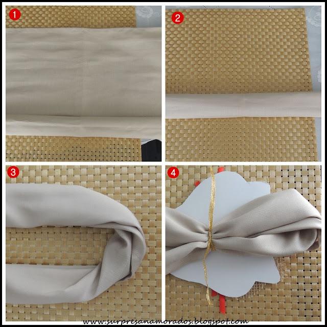 como dobrar guardanapo para páscoa