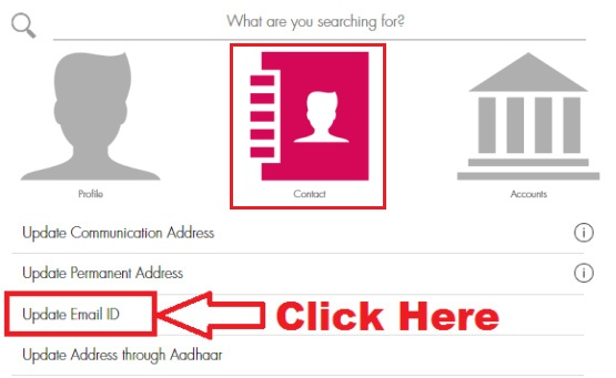 how to update email id in axis bank online