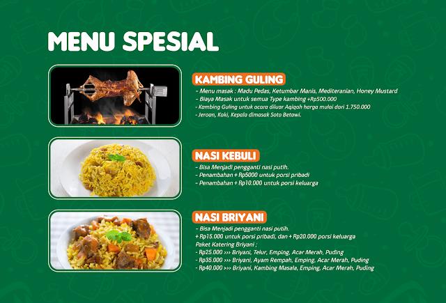 menu spesial aqiqah al kautsar