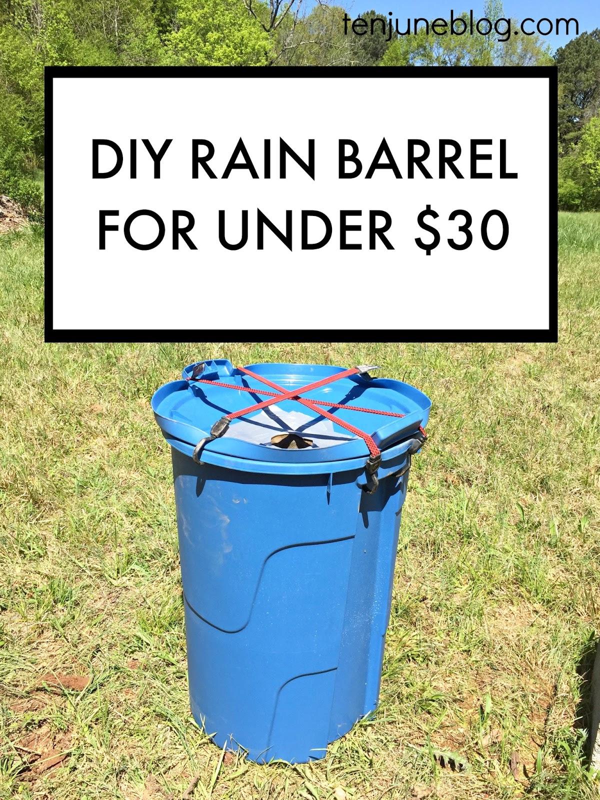 Ten june diy rain barrel for under 30 for Diy small rain barrel
