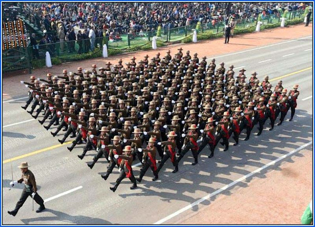Gorkha Brigade awarded as best marching contingent trophy on Republic Day
