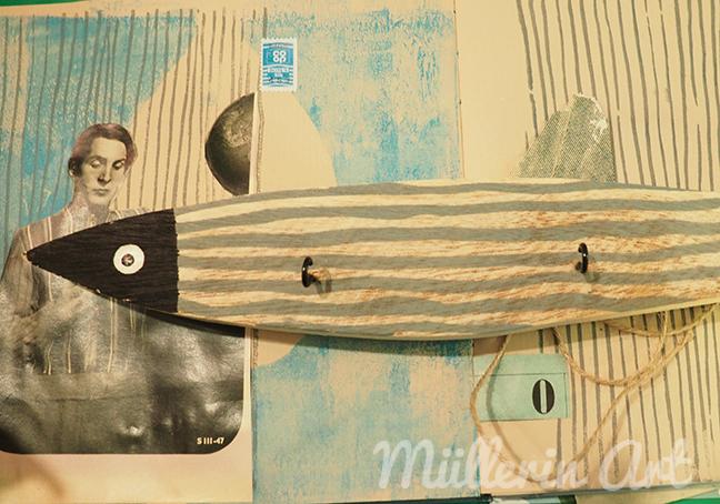 Annettes Fisch auf Collage © Müllerin Art